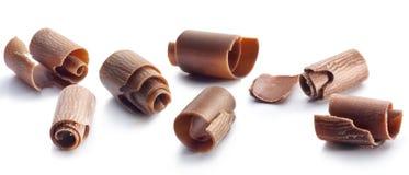 Riccioli del cioccolato Fotografie Stock Libere da Diritti
