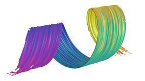 ricciolo astratto del colpo della spazzola 3d illustrazione vettoriale