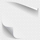 Ricciolo bianco della carta di pendenza Fotografia Stock