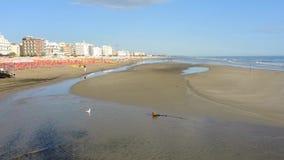 Riccione, Italië De kust van het strand tijdens de zomertijd Emilia Romagna stock footage