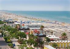 Riccione nord plaża obrazy stock