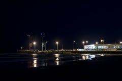 Riccione par nuit Images libres de droits