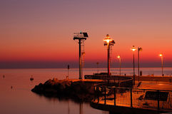 Riccione port Royalty Free Stock Photos