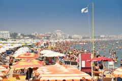 Riccione-Sommer Italien lizenzfreies stockbild