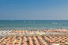 Riccione-Sommerzeit Italien lizenzfreie stockbilder