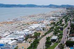 Riccione sud plaża zdjęcia royalty free