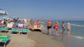 Riccione Wyrzucać na brzeg, Włochy, lato, słoneczny dzień, 4k zbiory