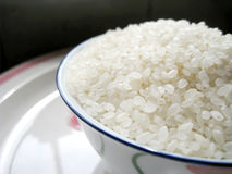 Rice. Close up for a bowl of rice Royalty Free Stock Images
