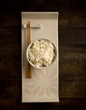 Rice with asian chopstick Royalty Free Stock Images