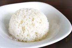 Rice or Asian rice. Dish in blur background stock photography