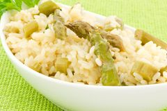 Rice with asparagus Royalty Free Stock Images