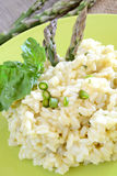 Rice by asparagus cream Stock Image