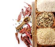 Rice assortment Stock Photos