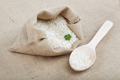 Rice in a bag. Royalty Free Stock Photos