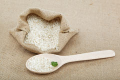 Rice in a bag. Royalty Free Stock Images