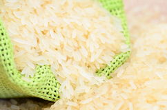 Rice in bag Royalty Free Stock Photo