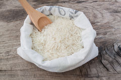 Rice in bags Stock Photos