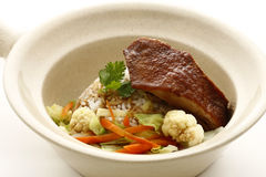 Rice with baked duck Royalty Free Stock Photography