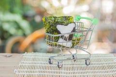 Rice ball food design in cart Stock Image