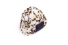 Rice ball Onigiri isolated in white backgound. Onigiri on a white background Stock Photo