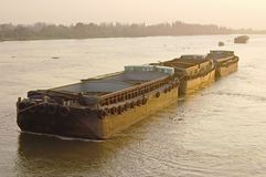 Rice barge Royalty Free Stock Photos