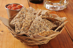 Rice and bean tortilla chips Stock Images