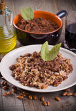 Rice and beans. Royalty Free Stock Images