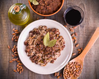 Rice and beans. royalty free stock photo