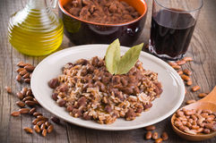 Rice and beans. Stock Photos