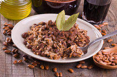 Rice and beans. Royalty Free Stock Photos