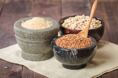 Rice, beans and buckwheat Royalty Free Stock Photos