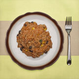 Rice and Beans Dinner Stock Photos