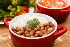 Rice and beans Stock Images