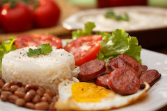 Rice and beans Stock Photography