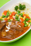 Rice with Beef, asia food in the background Royalty Free Stock Photo