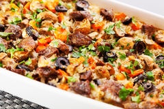 Rice and beef casserole Stock Image