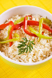 Rice with bell pepper slices Royalty Free Stock Photo