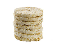 Rice Biscuits � gluten free, isolated. Dietetic Rice biscuits made of whole rice, isolated Stock Photo