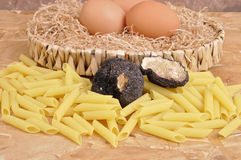 Rice and black truffle Stock Photo