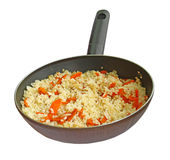 Rice with a bow and carrot Stock Photo