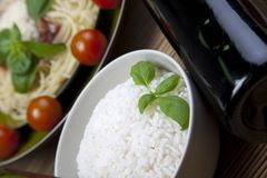 Rice in bowl Stock Images