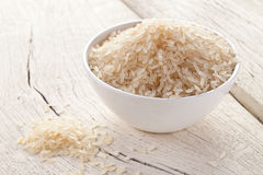 Rice in a bowl. royalty free stock images