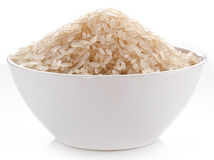 Rice in a bowl. Stock Images