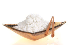 Rice and bowl Stock Images