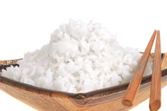Rice and bowl Stock Image