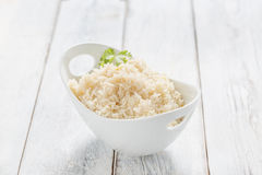 Rice in a Bowl Stock Photo