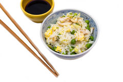 Rice bowl with chicken and eggs Royalty Free Stock Image