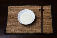 Rice bowl. A bowl of rice with chopstick Stock Photos