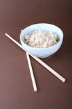 Rice bowl with chopsticks Stock Photo