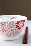 Rice Bowl and chopsticks Stock Image